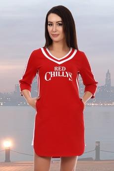 Красное спортивное платье Натали